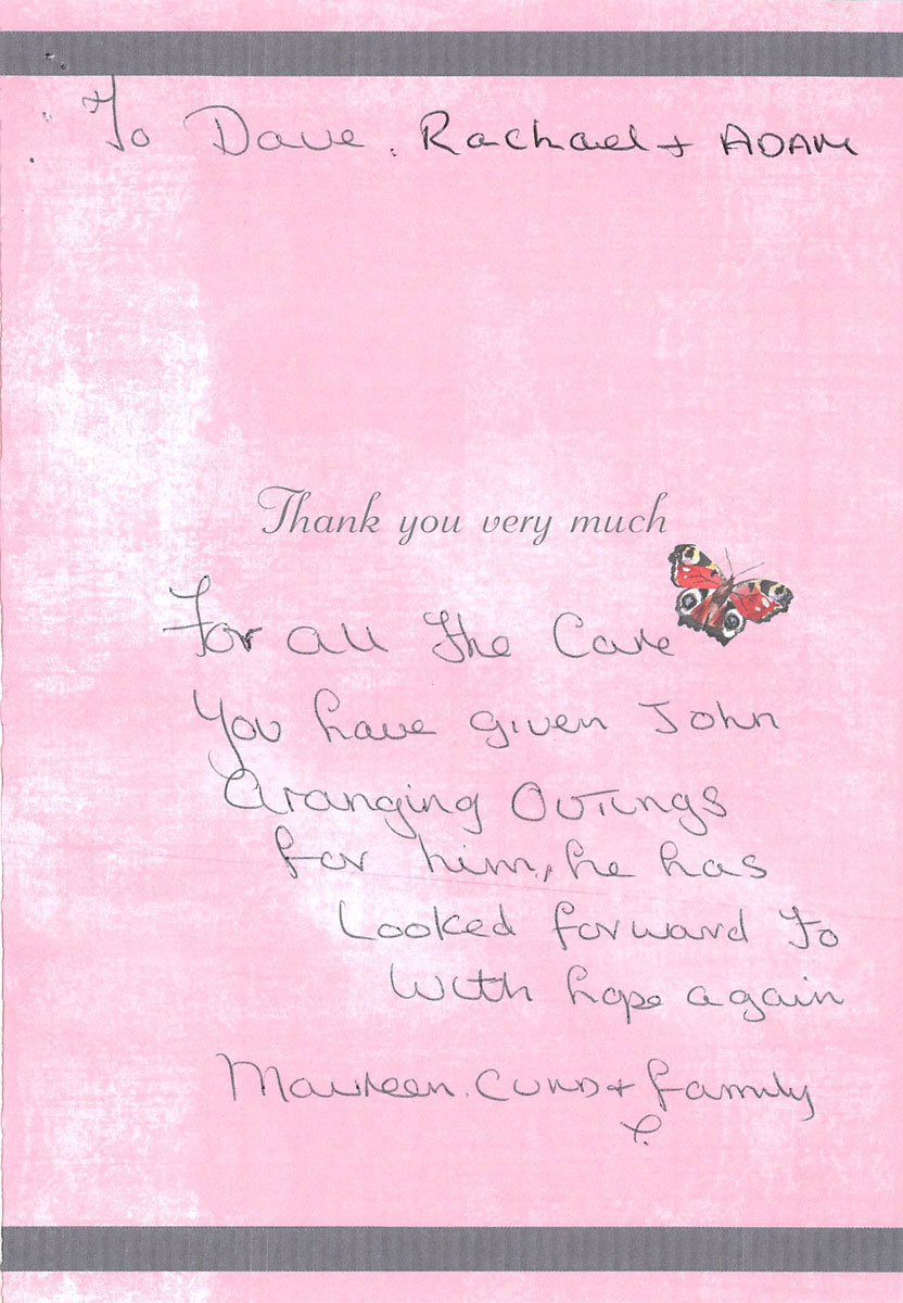 Perton Manor - Thank You Note 1