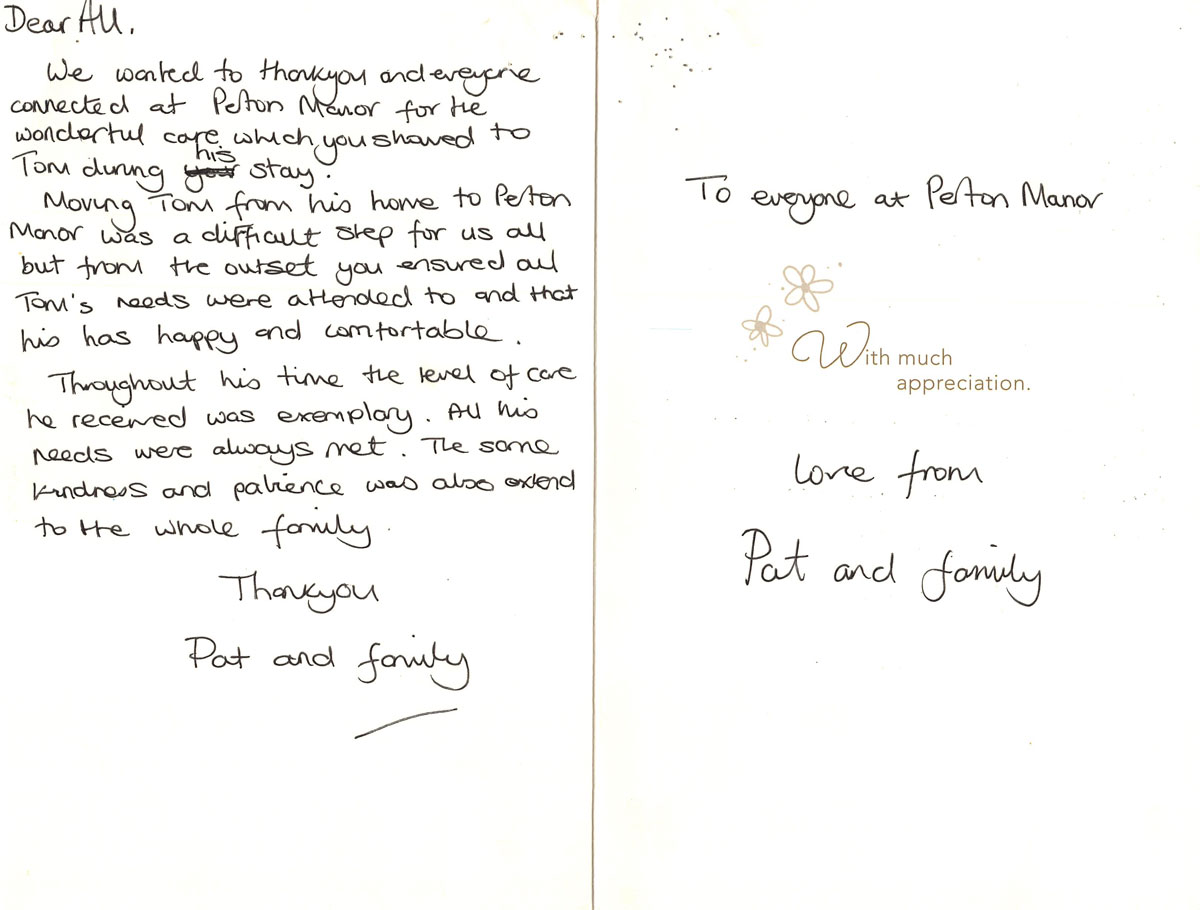 Perton Manor - Thank You Note 2