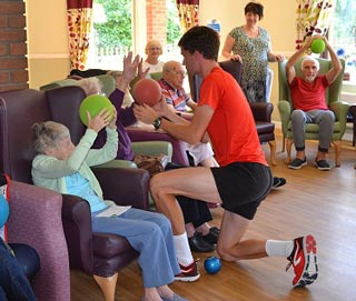 exercise with James at Perton Manor